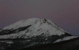 M. Ragola visto dal Passo Zovallo al tramonto