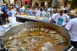 Da decenni si ripete la festa della trota con polenta a Bedonia