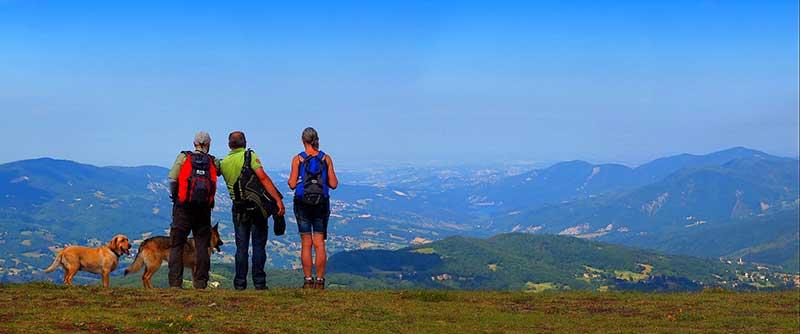 Val d'Arda vista dal Monte Lama