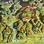 Cartina Val d'Arda con Parco Provinciale di Monte Moria