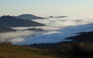 Vista da Montebello verso la bassa valle