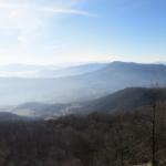 Panorama salendo da Tradosso dopo il M.Pelato