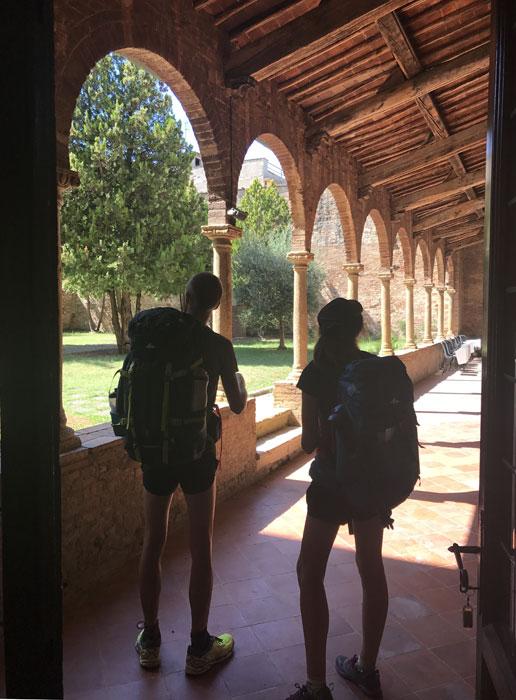 Convento sulla via Francigena
