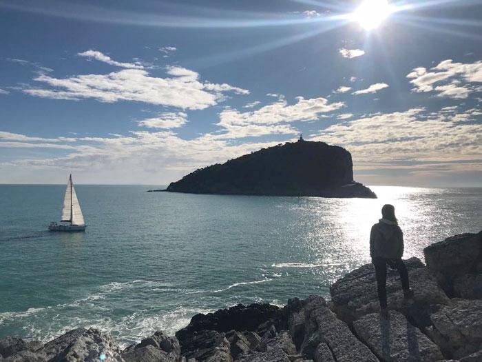 L'isola del Tino, vista dalla Punta dell'Isola della Palmaria
