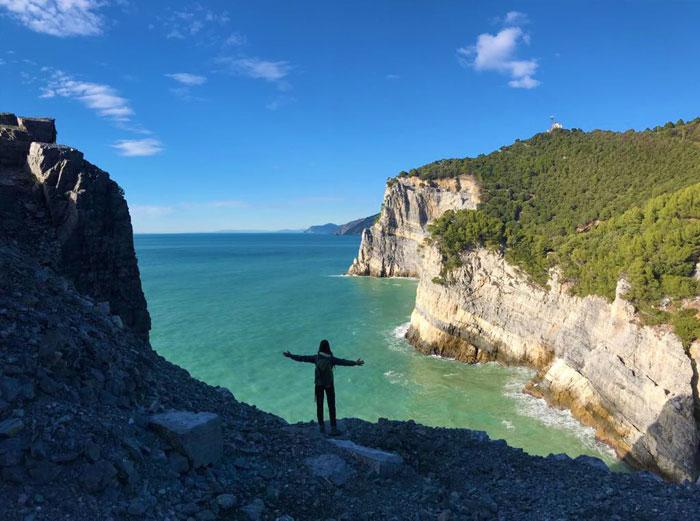 La selvaggia costa ovest dell'isola Palmaria