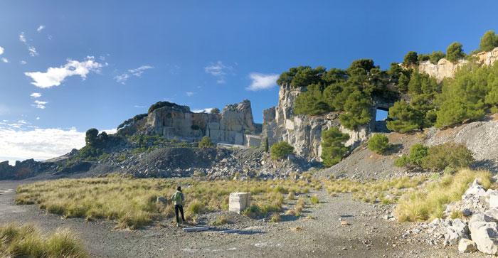 Cava di marmo sull'isola Palmaria