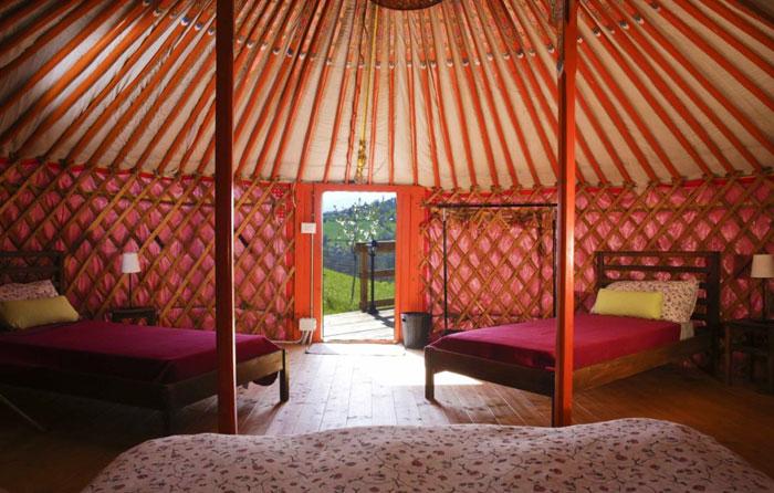 Tenda Yurta - interno di tenda tipica della Mongolia