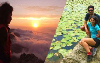 Tramonto sul Penna e ninfee al Lago Bino